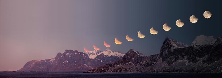 Panorama Photograph - Eclipse Panorama by Alex Conu