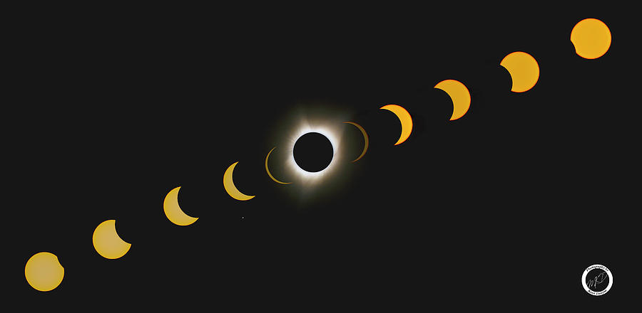 Total Solar Eclipse Photograph - Eclipse Progression by Kent Duryee