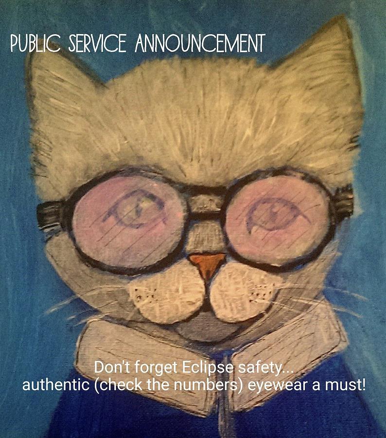Eclipse Drawing - Eclipse Public Service Announcement by Lou Belcher