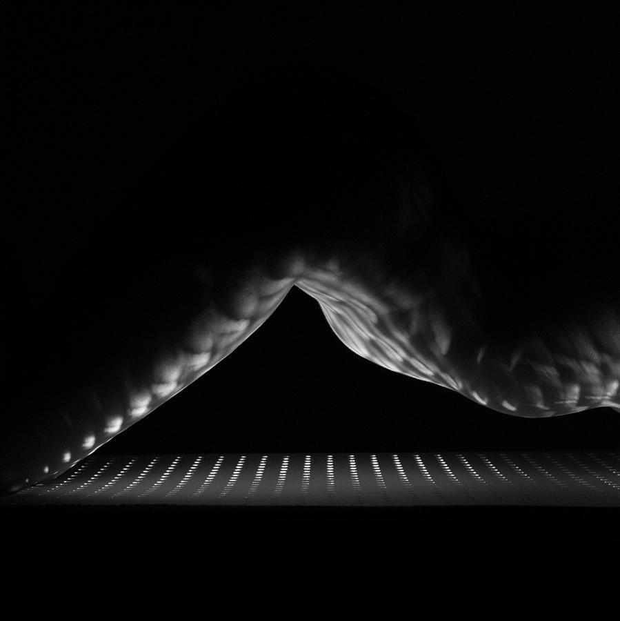 Monochromatic Photograph - Eclipse Square Crop by Blue Muse Fine Art
