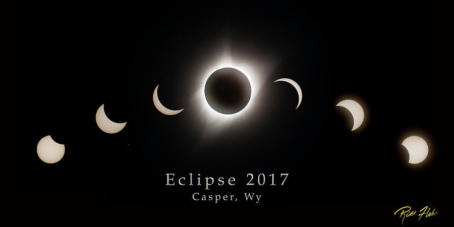 Solar Eclipse Collage 1 by Rikk Flohr