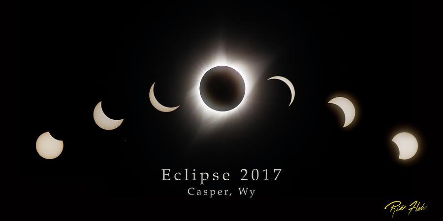 Solar Eclipse Collage 1 by Rikk Flohr