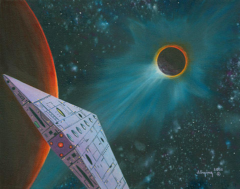 Eclipse Painting by Visionary Imagist