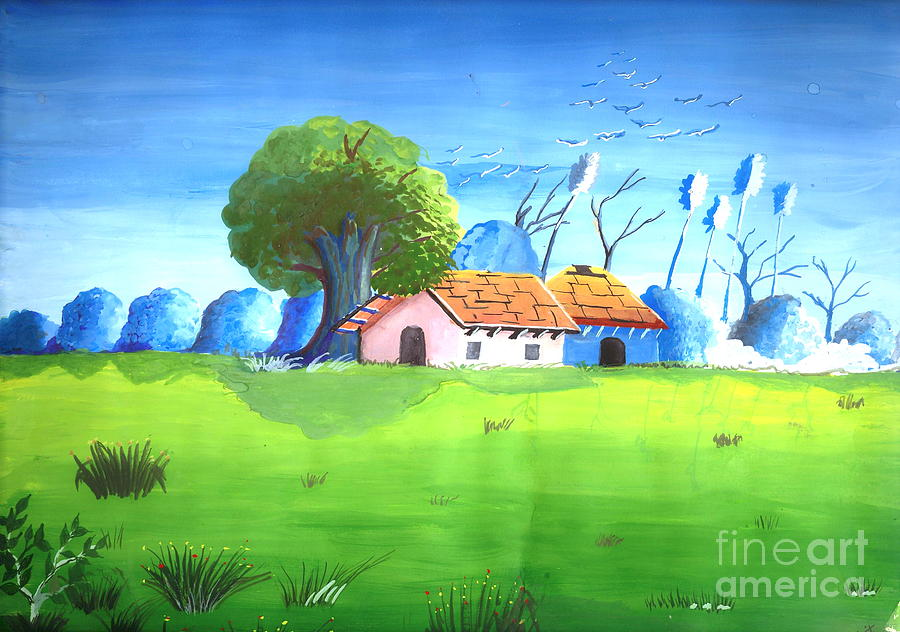 Eco Friendly Environment 1 Painting By Archit Singh