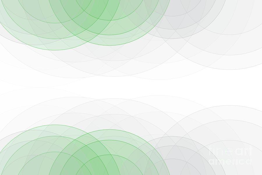 Abstract Digital Art - Eco Tec Semi Circle Background Horizontal by Frank Ramspott