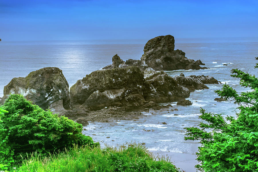 Water Photograph - Ecola State Park Oregon 2 by Shiela Kowing