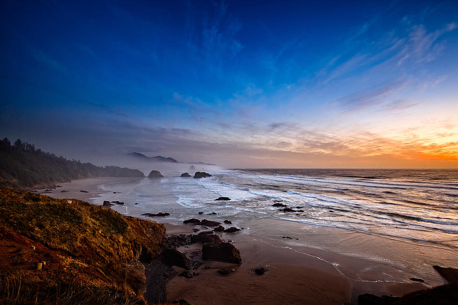 Ecola State Park at Sunset by Ian Good
