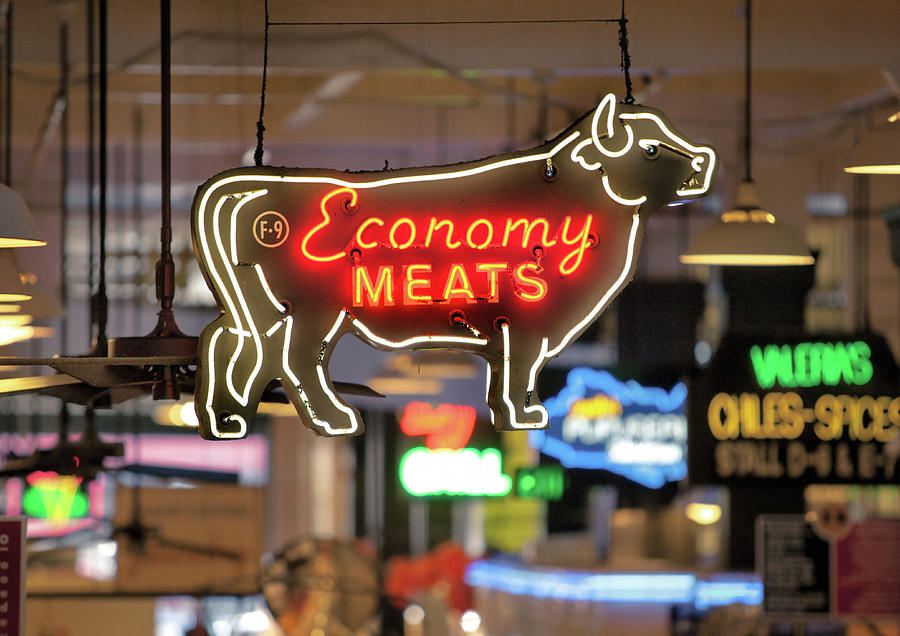 California Photograph - Economy Meats by Whitman White
