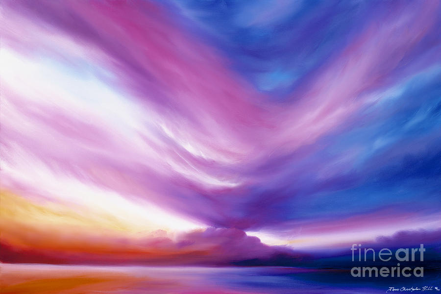 Clouds Painting - Ecstacy by James Christopher Hill