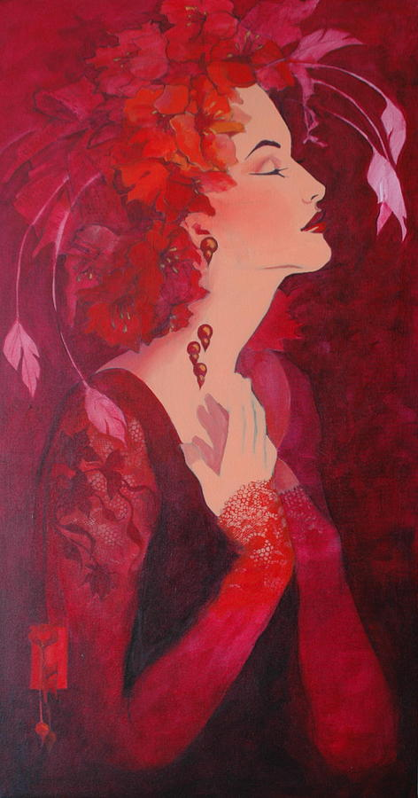 Emotion Painting - Ecstasy In Red by Sonja Donnelly