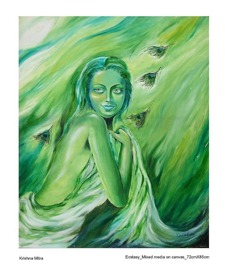 Contemporary Painting - Ecstasy by Krishna Mitra