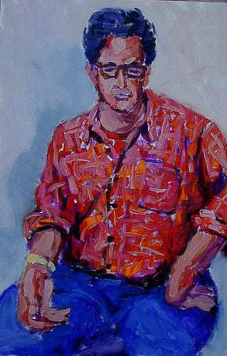 Portrait Painting - Ed Bronstein by Thom Duffy
