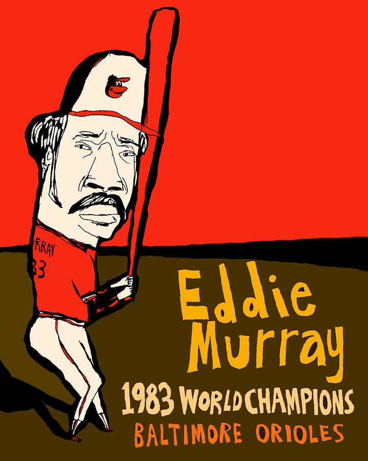 Eddie Murray Painting - Eddie Murray Baltimore Orioles by JB Perkins