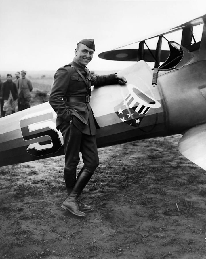 Eddie Rickenbacker Photograph - Eddie Rickenbacker - WW1 American Air Ace by War Is Hell Store
