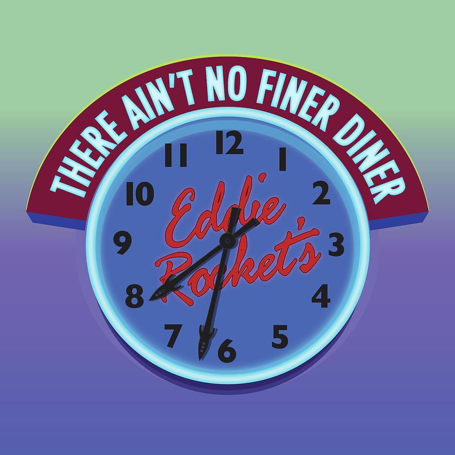 Eddie Rocket Clock Digital Art