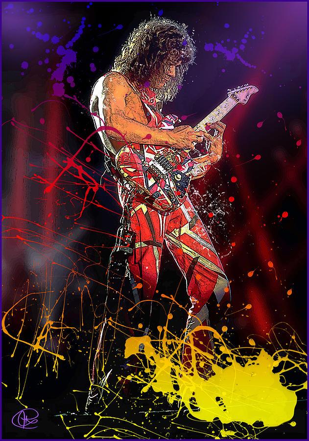 Eddie Van Halen Digital Art - Eddie Van Halen by Hay Rouleaux