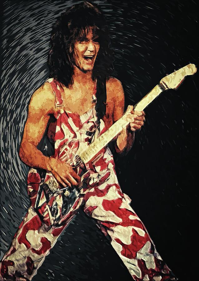 Eddie Van Halen Digital Art By Zapista Ou