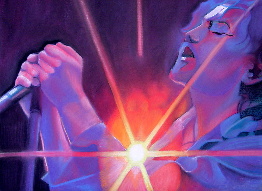 Eddie Vedder Drawing - Eddie Vedder And Lights by Joshua Morton