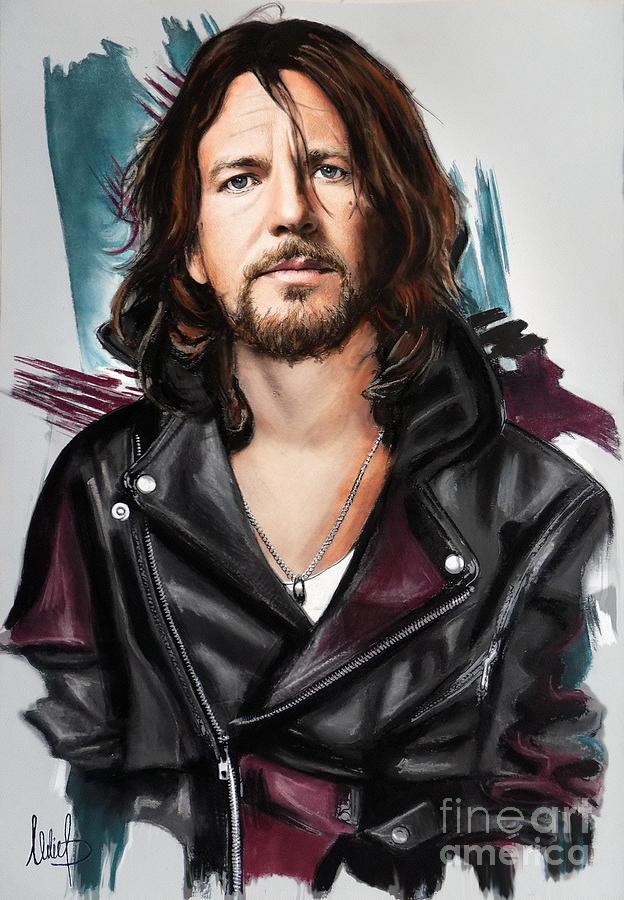 Eddie Vedder Pastel By Melanie D
