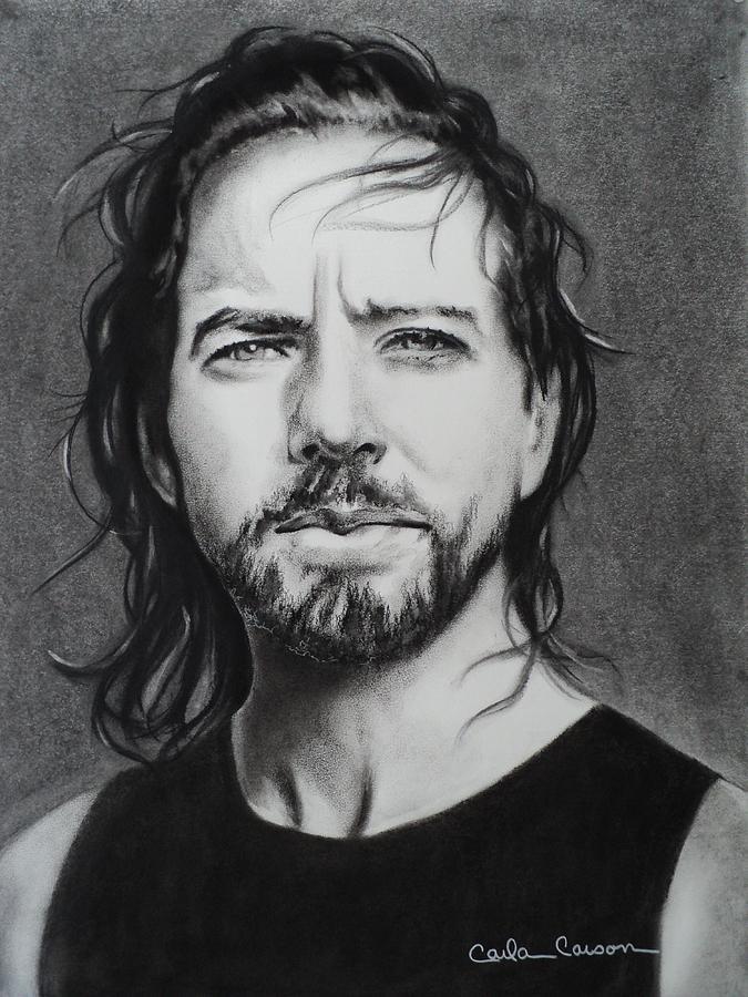 Eddie Vedder Drawing - Eddie Vedder Of Pearl Jam Nothings As It Seems by Carla Carson