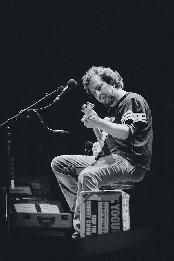 Eddie Vedder Photograph - Eddie Vedder Playing Live by Marco Oliveira