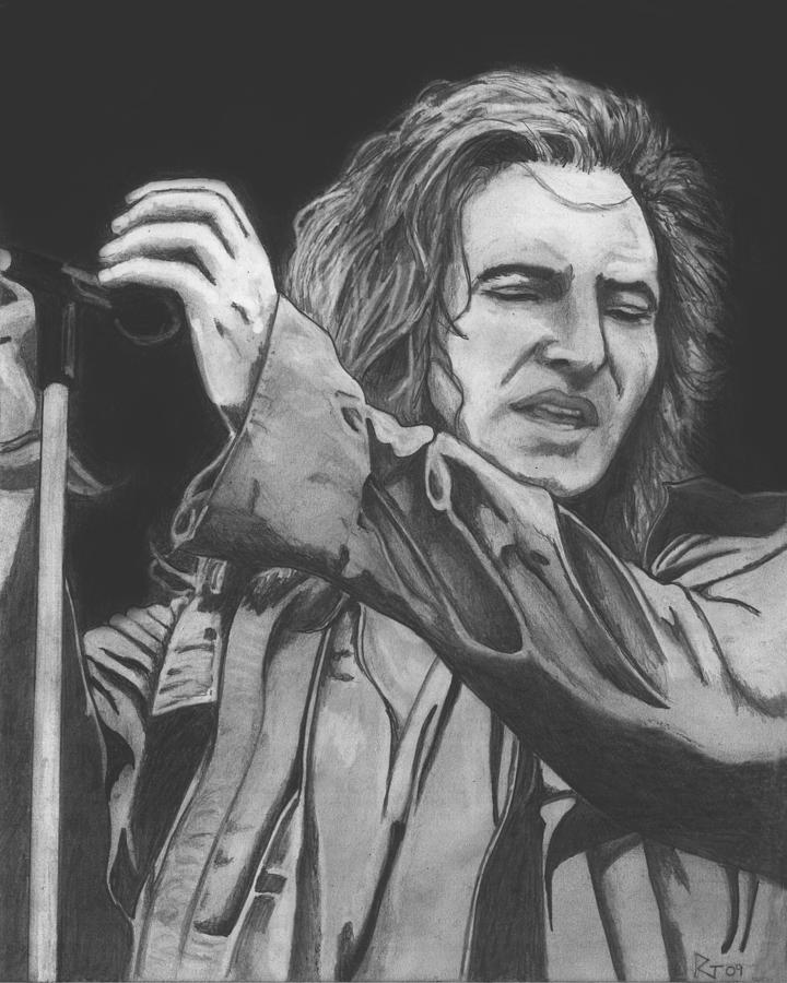 pearl jam coloring pages | Eddie Vedder Drawing by Russell Griffenberg