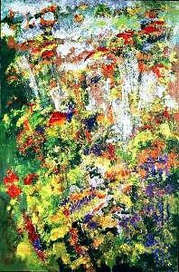 Christies Painting - Eden 2006 From Recent Nature Series by Chitra Ramanathan