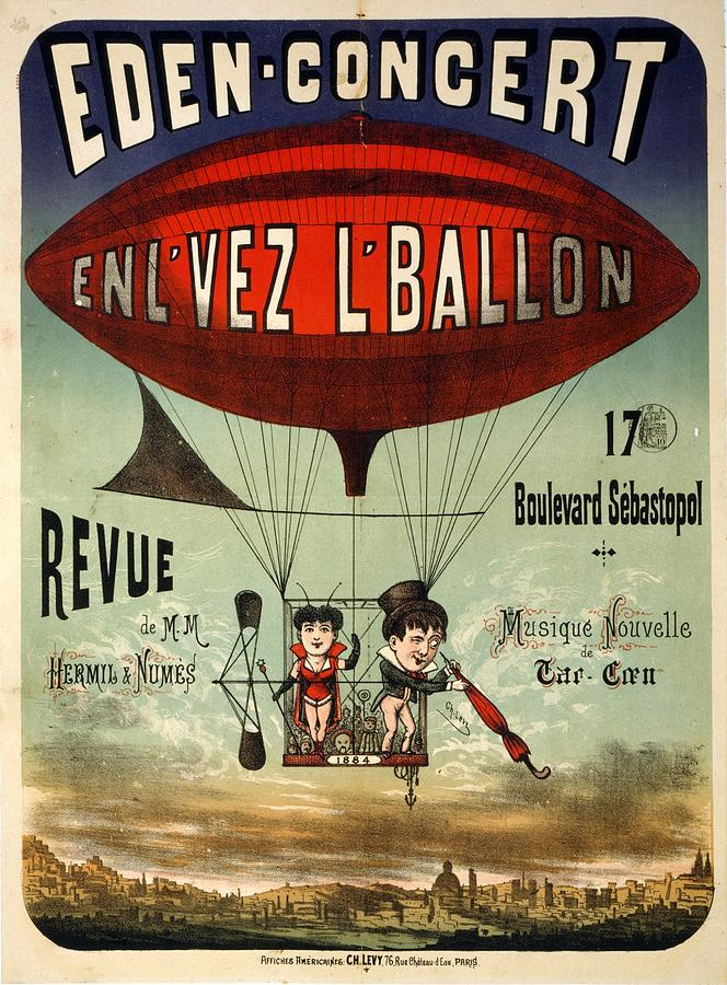 Eden-concert - Air Balloon - Vintage Advertising Poster Mixed Media
