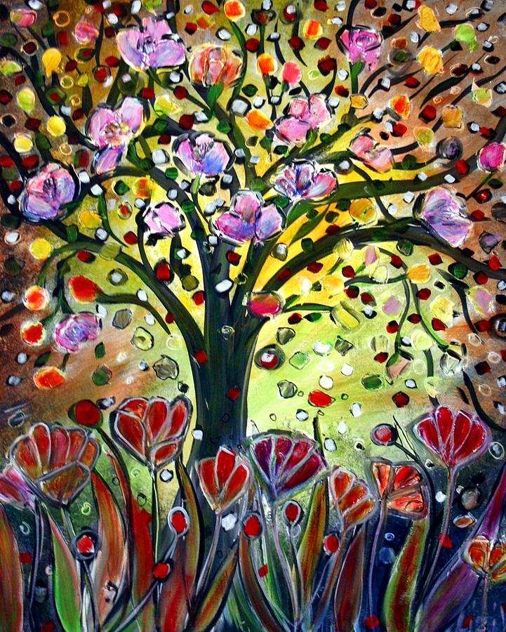 Flowers Painting - Eden Garden by Luiza Vizoli