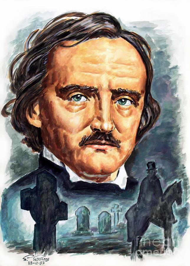Edgar Allan Poe painting by Star Portraits Art