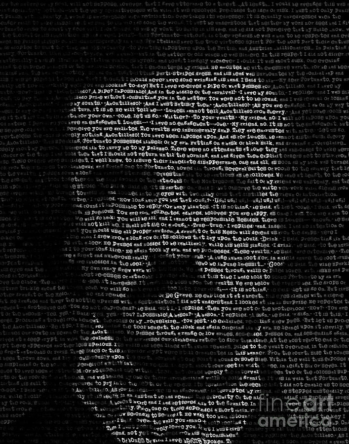 Edgar Allan Poe Digital Art - Edgar Allan Poe - TypeFace by Kenneth Rougeau