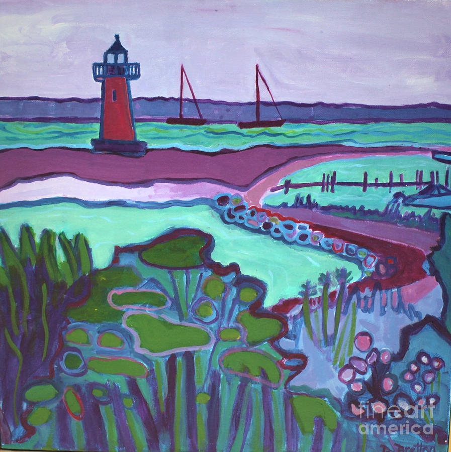 Edgartown Painting - Edgartown Fog by Debra Bretton Robinson