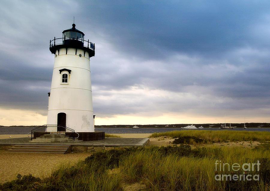 Edgartown Lighthouse Photograph - Edgartown Lighthouse Cape Cod by Matt Suess