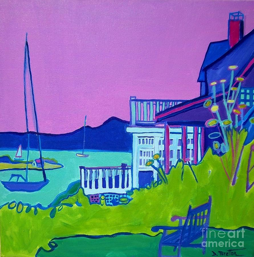 Landscape Painting - Edgartown Porches by Debra Bretton Robinson