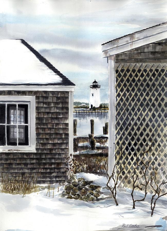 Edgartown Winter Painting by Paul Gardner