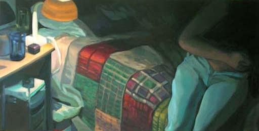 Figurative Painting - Edge Of The Bed 1 by Merle Keller