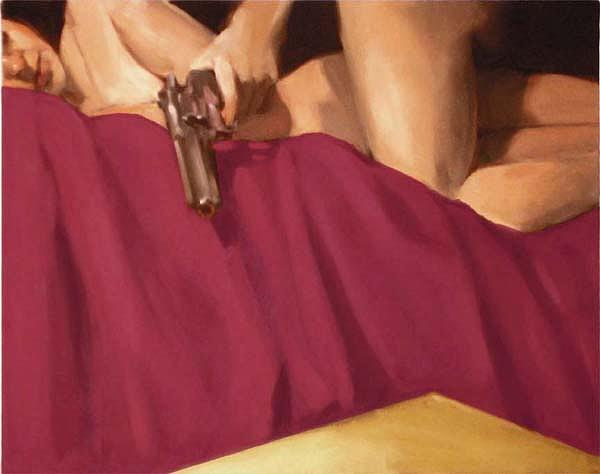 Figurative Painting - Edge Of The Bed 4 by Merle Keller