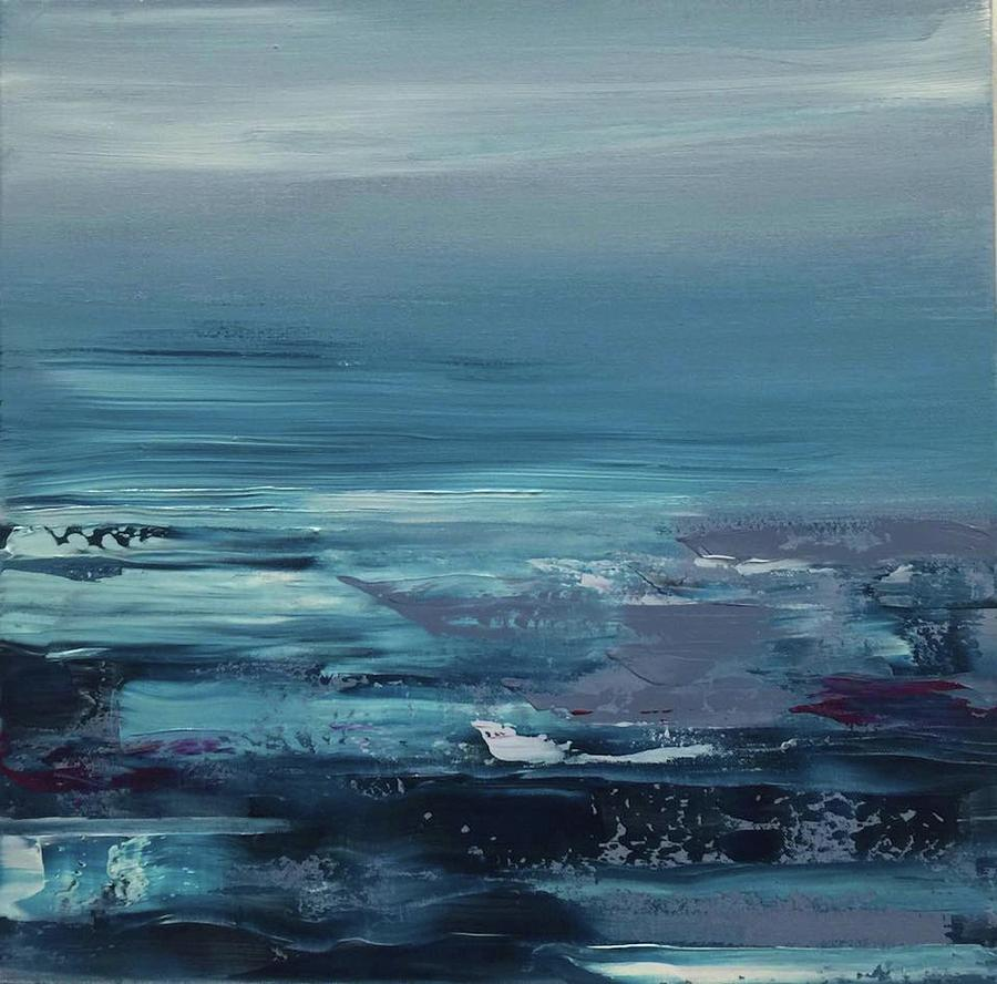 Edge of the Deep Blue Sea Painting by Alice Lipping