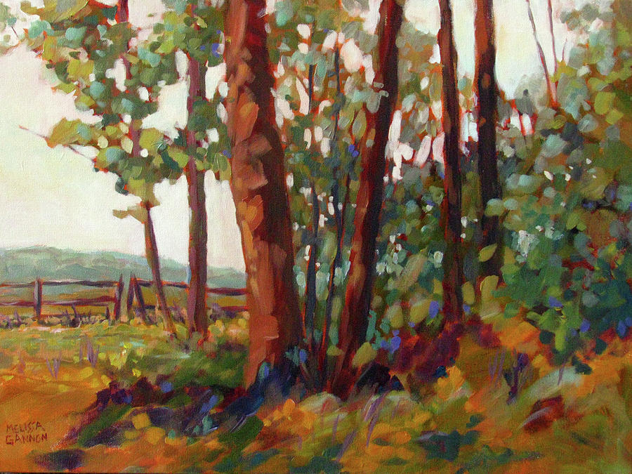Woods Painting - Edge Of The Field by Melissa Gannon