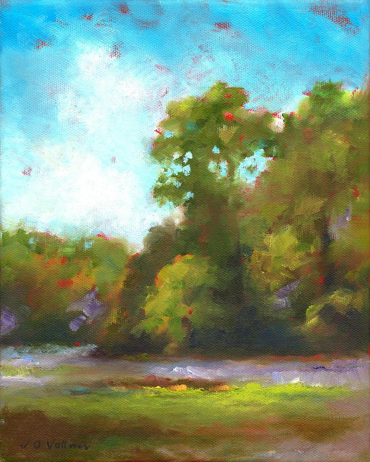 Marsh Painting - Edge Of The Marsh by Joyce Vollmer