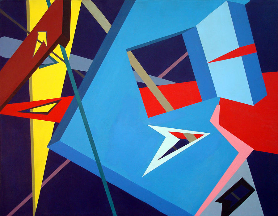 Geometric Painting - Edged Dimensions by Tommy Reynolds