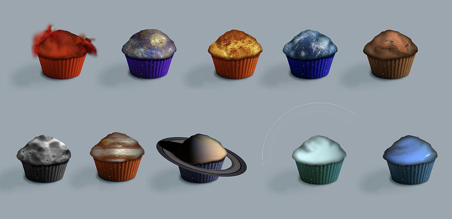 Mercury Digital Art - Edible Solar System by Julie Rodriguez Jones