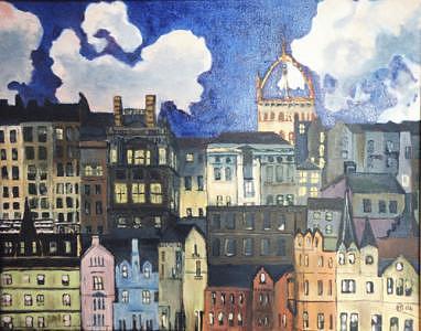 Edinburg Painting by Frank Sharp