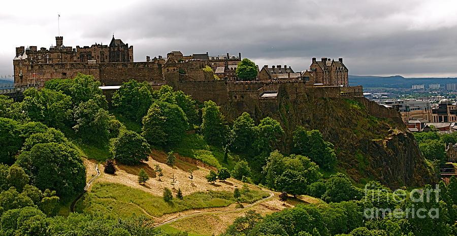 Edinburgh Photograph - Edinburgh Castle by Louise Fahy