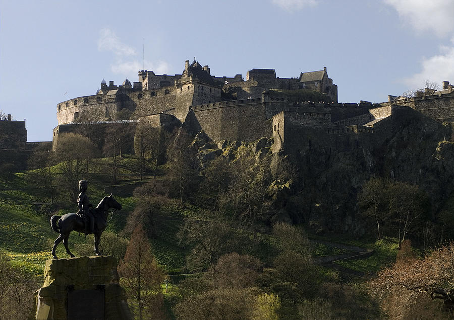 Ancient Photograph - Edinburgh Castle by Mike Lester