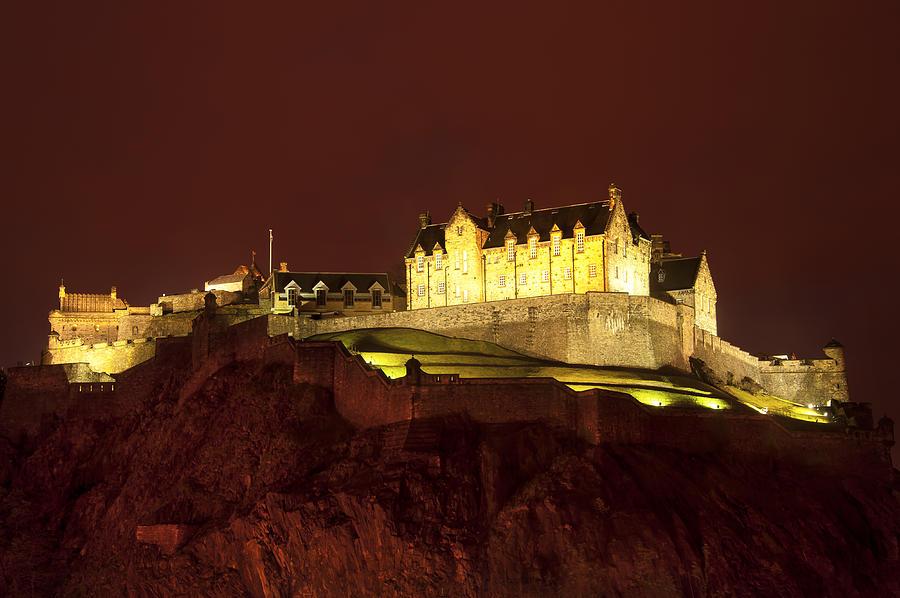 Abbey Photograph - Edinburgh Castle by Svetlana Sewell