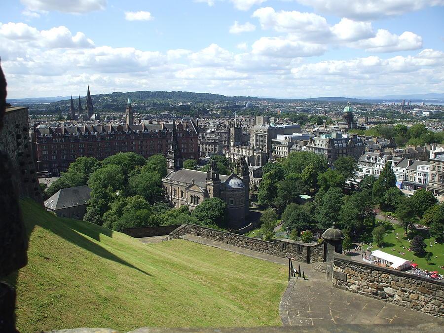 Scottish Photograph - Edinburgh Castle View #6 by Lisa Collinsworth