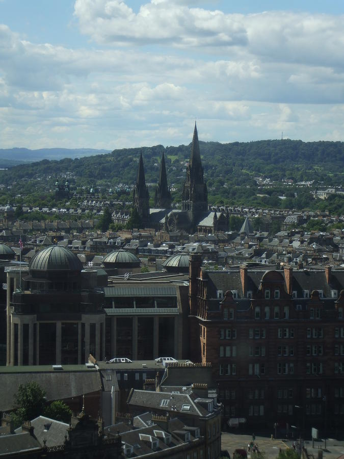 Scottish Photograph - Edinburgh Castle View #9 by Lisa Collinsworth