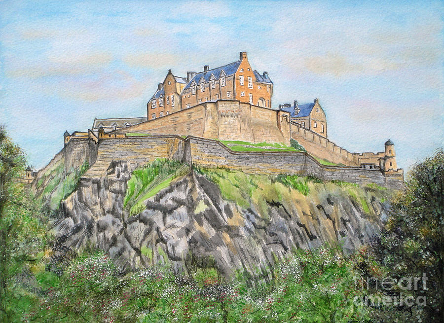 Edinburgh Castle Painting - Edinburgh Castle by Yvonne Johnstone