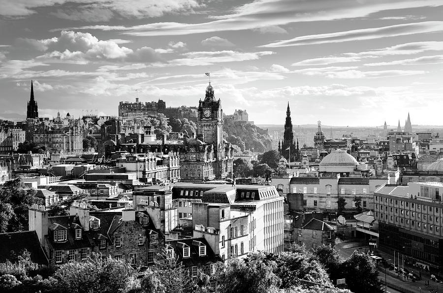 Edinburgh photograph edinburgh from calton hill black and white by david lyons